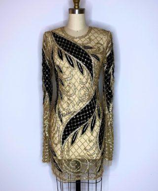 Holiday Extravaganza✨ Custom made hand beaded Swarovski dress with velvet appliqués #style #fashion #swarovski #holiday #design #vision #dress #sexy #embroidery