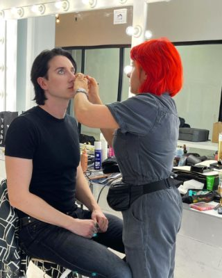 Behind the scenes🖤 #dmitrysholokhov #photoshoot #fashion #style #vision #designer #art #collection #makeup #design